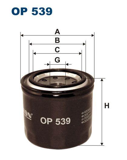 Filtr oleju FI-539 OP
