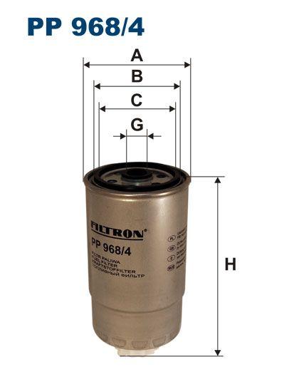 Filtr paliwa FI-968/4 PP